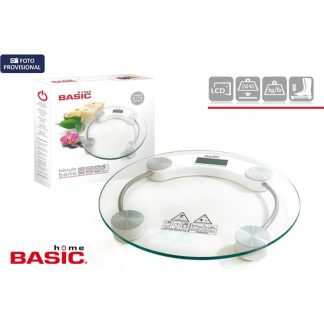BÁSCULA DIGITAL 150KG REDONDA BASIC HOME