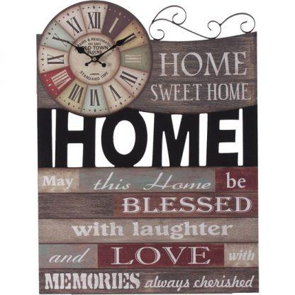 RELOJ MURAL HOME SWEET HOME