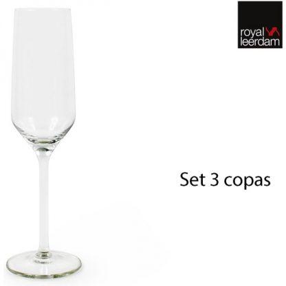 SET 3 COPAS CHAMPAGNE 22cl ARISTO