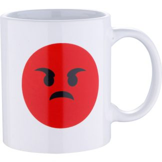 MUG 33CL GRES ANGRY WHITE EMOTICON