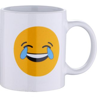 MUG 33CL GRES LAUGH WHITE EMOTICONO