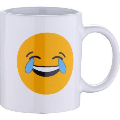 MUG 33CL GRES LAUGH WHITE EMOTICONO