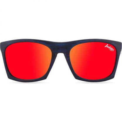 GAFAS DE SOL BARREL BLUE WOODEN - ROJO